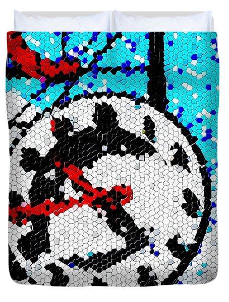 Market Clock Mosaic Duvet Cover by Tim Allen