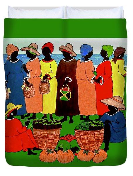 Market Day Duvet Cover