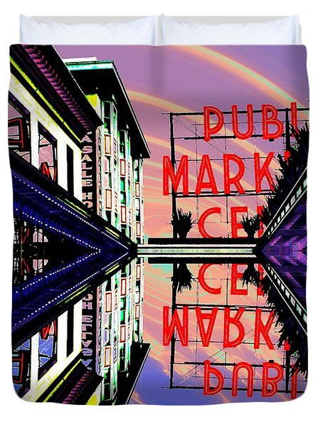 Market Entrance Duvet Cover by Tim Allen