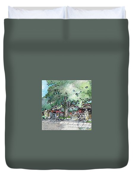Market Entry Duvet Cover by Andrew Drozdowicz