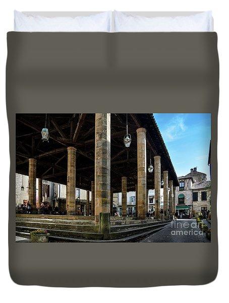 Market Hall Of Cordes-sur-ciel Duvet Cover