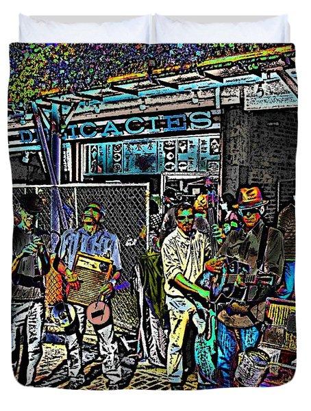 Market Interlude 2 Duvet Cover by Tim Allen