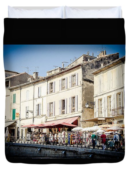 Duvet Cover featuring the photograph Market by Jason Smith