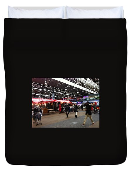 Duvet Cover featuring the photograph Market Movement by Christin Brodie