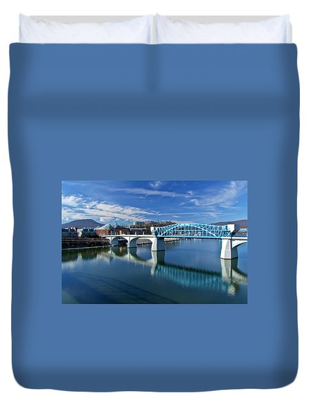 Market Street Bridge  Duvet Cover by Tom and Pat Cory