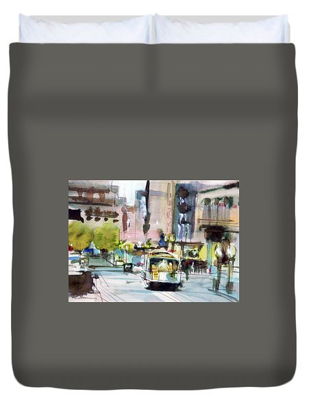 Market Street Duvet Cover by Ed Heaton