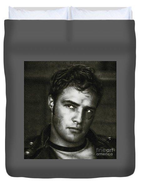 Marlon Brando - Painting Duvet Cover
