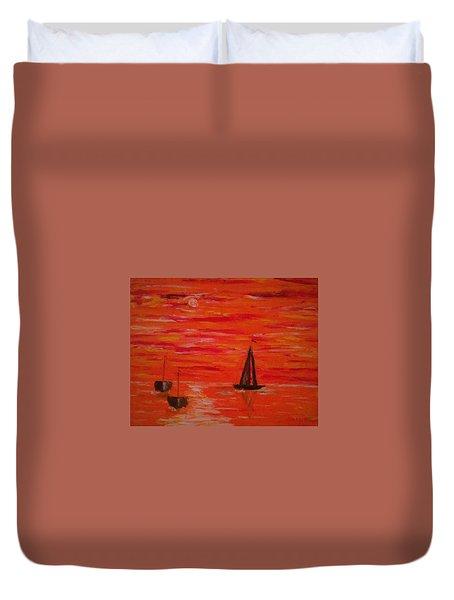 Marmalade Skies Duvet Cover by Debbie