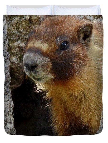 Duvet Cover featuring the digital art Marmot 4 by Visual Artist Frank Bonilla