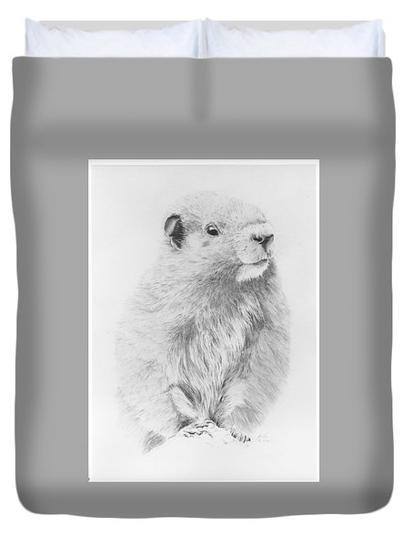 Marmot Duvet Cover by Glen Frear