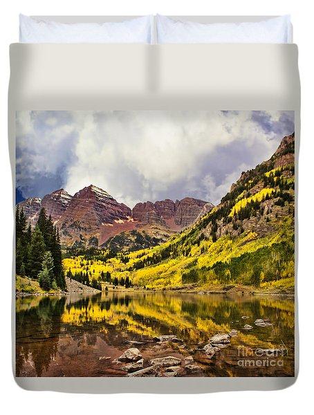 Maroon Bells Lake Duvet Cover