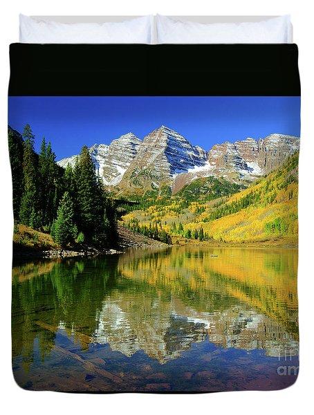 Maroon Lake Autum - 1 Duvet Cover
