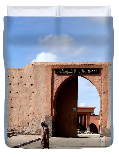 Duvet Cover featuring the photograph Marrakech 1 by Andrew Fare