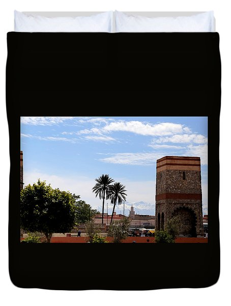 Duvet Cover featuring the photograph Marrakech 2 by Andrew Fare