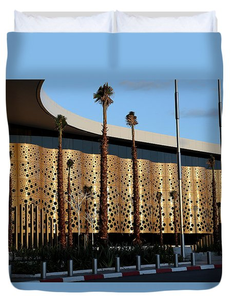Duvet Cover featuring the photograph Marrakech Airport 1 by Andrew Fare