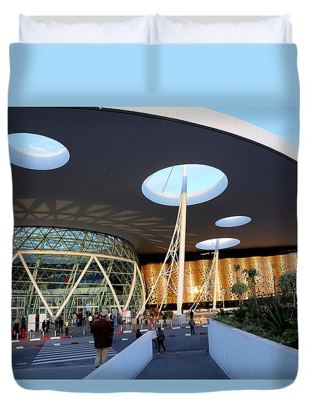 Duvet Cover featuring the photograph Marrakech Airport 2 by Andrew Fare