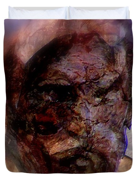 Marred Visage 4 Duvet Cover
