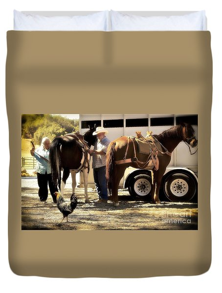 Marriage And The Deer Hunters Duvet Cover