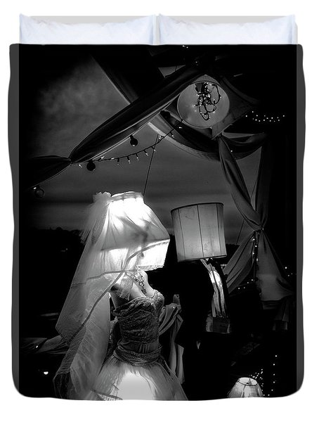 Duvet Cover featuring the photograph Marriage Of Darkness And Light by Alan Raasch