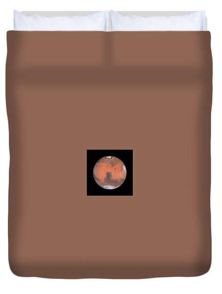 Duvet Cover featuring the photograph Mars by Artistic Panda