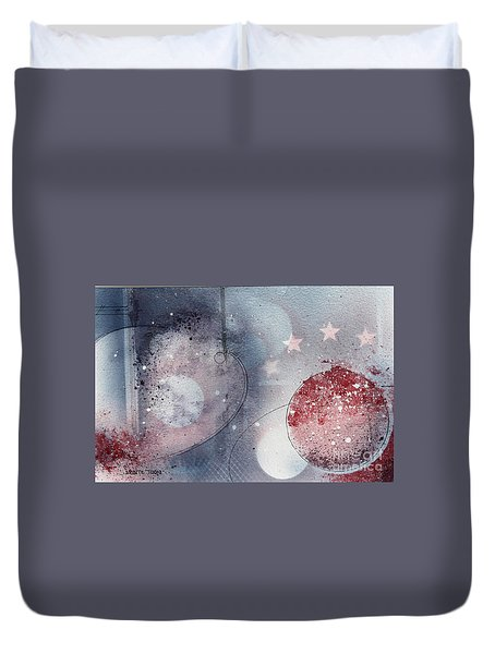 Mars Duvet Cover by Monte Toon
