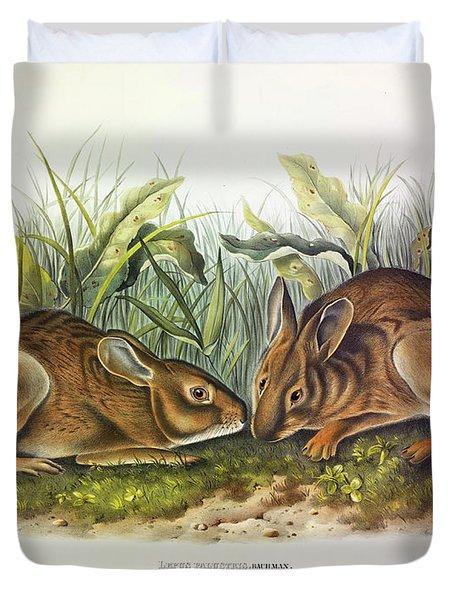 Marsh Hare Duvet Cover