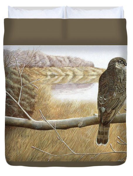 Marsh Hawk Duvet Cover