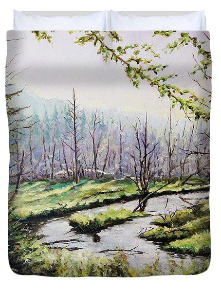 Marsh Lands Duvet Cover by Richard T Pranke