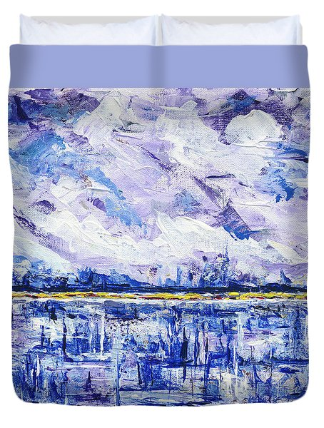 Marsh Madness Duvet Cover