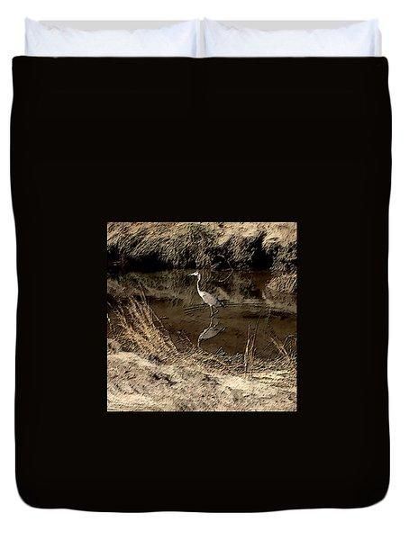 Marsh Bird Duvet Cover