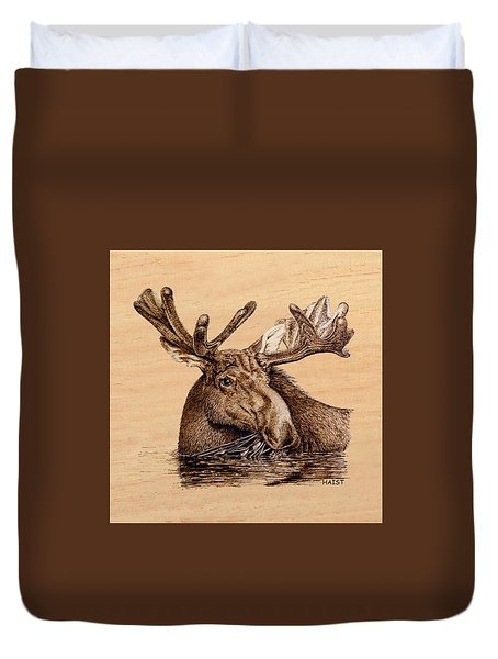 Marsh Moose Pillow/bag Duvet Cover