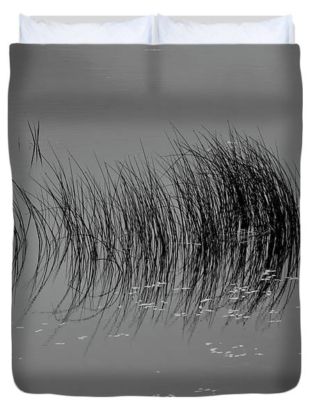Duvet Cover featuring the photograph Marsh Reflection by Albert Seger