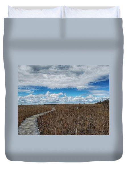 Marsh Walk 3 Duvet Cover