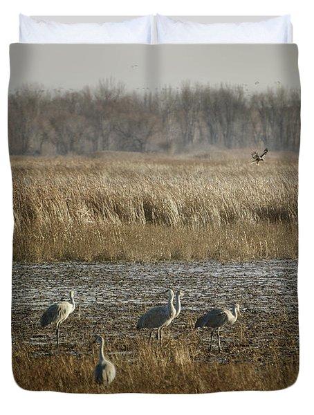 Marsh Wildlife Duvet Cover
