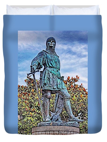 Duvet Cover featuring the photograph Marshal Of Brittany Jehan De Beaumanoir by Elf Evans