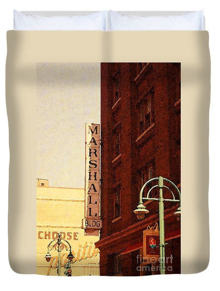 Marshall Bldg Duvet Cover