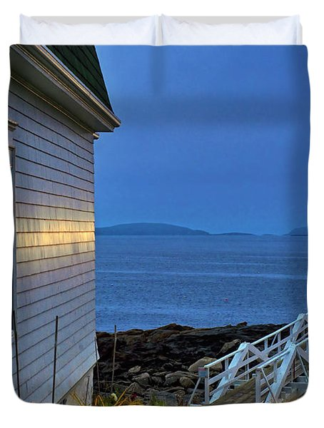 Marshall Point Lighthouse Duvet Cover by John Greim