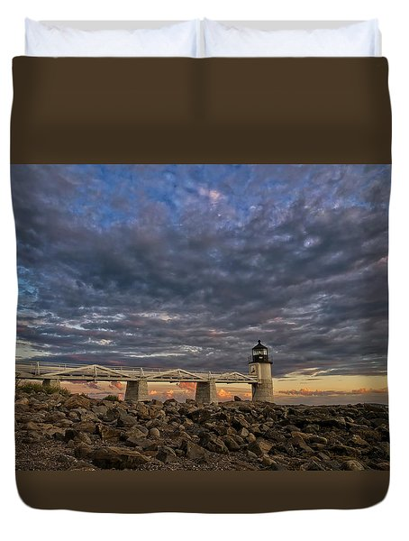 Marshall Point Lighthouse Maine Duvet Cover