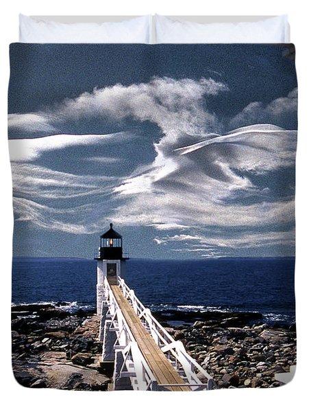Marshall Point Lighthouse Maine Duvet Cover