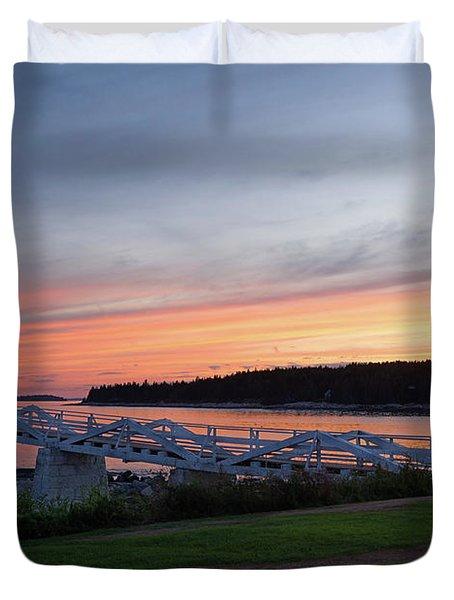 Marshall Point Lighthouse, Port Clyde, Maine -87444 Duvet Cover