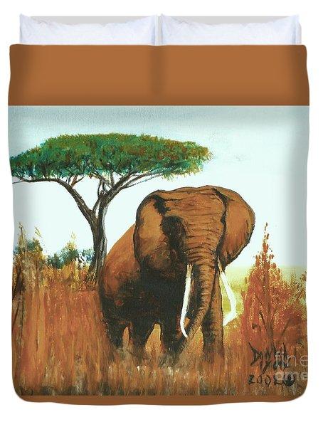 Marsha's Elephant Duvet Cover