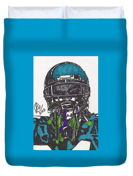 Marshawn Lynch 1 Duvet Cover by Jeremiah Colley