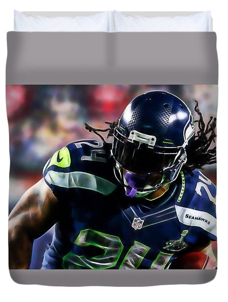 Marshawn Lynch Collection Duvet Cover