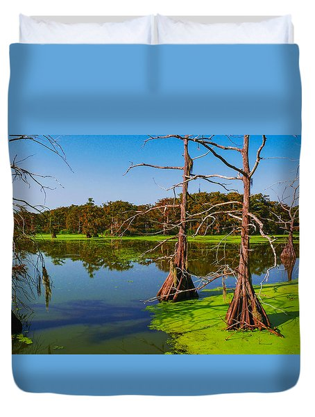 Marshes Of Wallisville Duvet Cover