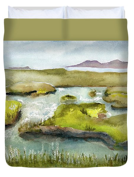 Marshes With Grash Duvet Cover