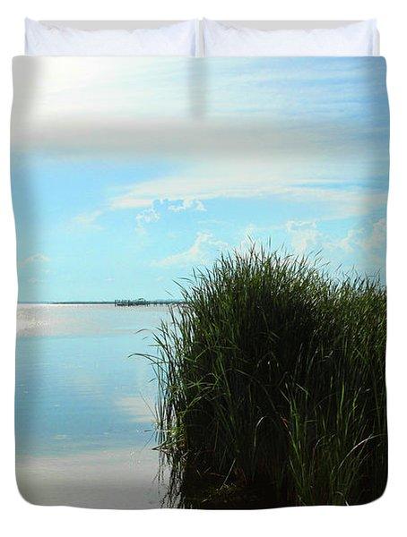 Marshland Duvet Cover by David Stasiak