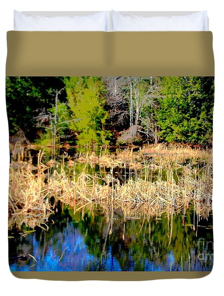 Marshland Duvet Cover by Jesse Ciazza