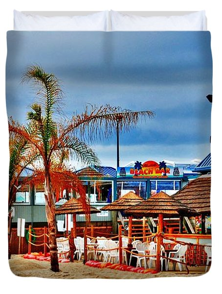 Martells On The Beach - Jersey Shore Duvet Cover
