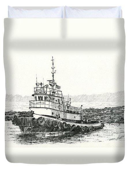 Martha Foss Log Assist Duvet Cover by James Williamson