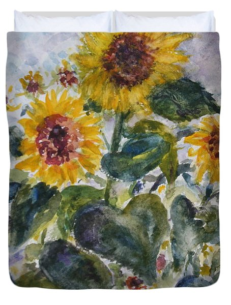 Martha's Sunflowers Duvet Cover
